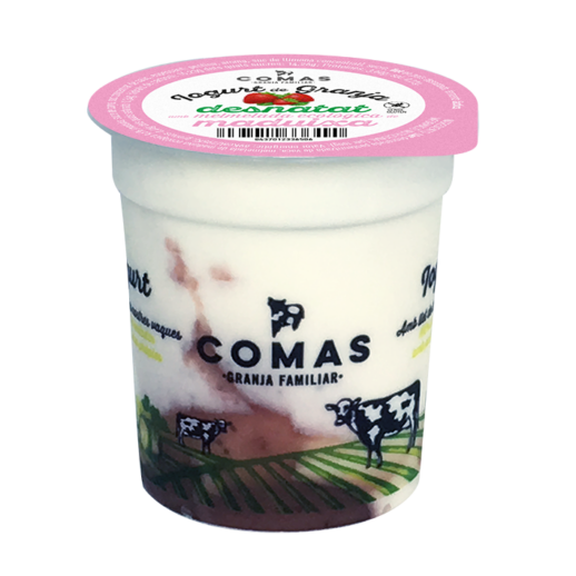 fetaosona - Granja Comas - Iogurt maduixa desnatat