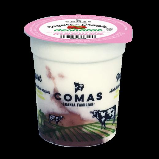 fetaosona - Granja Comas - iogurt desnatat de maduixa amb melmelada ecològica
