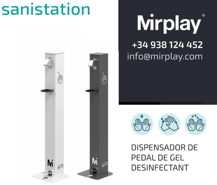 Marketplace Tona - Mirplay - Sanistation dispensador de pedal de gel desinfectant